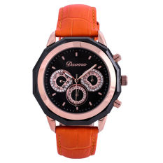 Hoongos With Wei Na (Davena) Watch Korean Fashion Watch Ladies Watch Quartz Watch Waterproof Ladies Chaobiao Orange Belt Female Students
