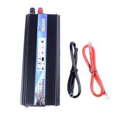 HOT-A1-0001.2000W Car Vehicle USB DC 12V To AC 220V Power Inverter Adapter Converter - Black