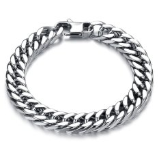 Hot Fashion Punk Style Men's Classical Biker Chain Bracelet 316L Stainless Steel High Polished Heavy Metal Jewelry
