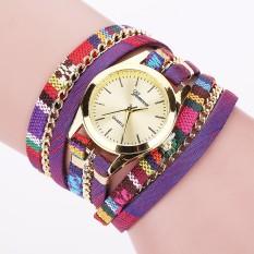 Hot Sell New Fashion Leather Bracelet Watch Women Wristwatch Casual Luxury Brand Quartz Watch Relogio Feminino Gift 1876(Purple)