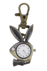 Hot Selling Creative Cute Rabbit Vintage Watch Fashion Necklace Pocket Watch For Men Children Best Gift Pocket Watches Key Ring Watch (Intl)