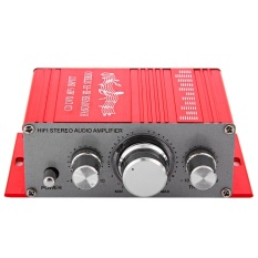 HY - 2001 Hi-Fi 12V Mini Auto Car Stereo Amplifier 2 Channel Audio Support CD DVD MP3 Input For Motorcycle Home(Red) - intl