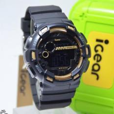IGear Digital - Jam Tangan Sport Pria - Rubber Strap - IGear I03 Black Yellow