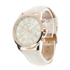 ILife Geneva Women's Fashion Roman Numerals Faux Leather Analog Quartz Wrist Watch White (Intl)