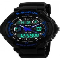ILife SKMEI Water Resistant 0931 LED Watch Blue (Intl)