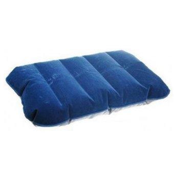 Inflatable PVC Neck Pillow High Rest / Bantal Angin - Biru Tua