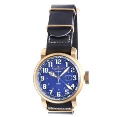 INVICTA Aviator Men's Black Leather Strap Watch 18889