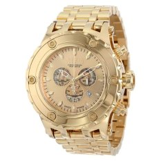 Invicta Men's 14506 Subaqua Reserve Chronograph Gold Dial 18k Gold Ion-Plated Stainless Steel Watch (Intl) (Intl)