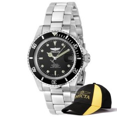 Invicta Pro Diver Men 40mm Case Silver Stainless Steel Strap Black Dial Automatic Watch 8926OB