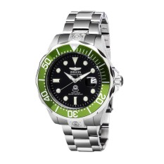 Invicta Pro Diver Men 47mm Case Silver Stainless Steel Strap Black Dial Automatic Watch 3047