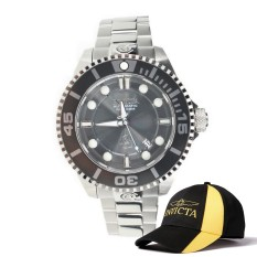 Invicta Pro Diver Men 47mm Case Silver Stainless Steel Strap Charcoal Dial Automatic Watch 19800