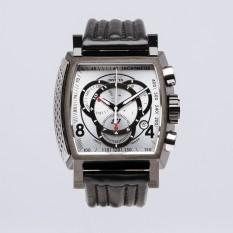 Invicta S1 Rally Men 48mm Case Black Leather Strap Silver Dial Quartz Watch 20249
