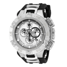 INVICTA Subaqua IN-15927 Men's Stainless Steel And Rubber Silver Dial Watch