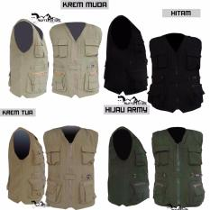 Jaket Rompi Army Outdoor Hitam (Motor, Mancing, Safety, Militer, Airsoft,