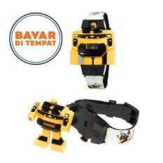 Jam Tangan Anak Model Robot Transformers Bumblebee - Kuning/Hitam