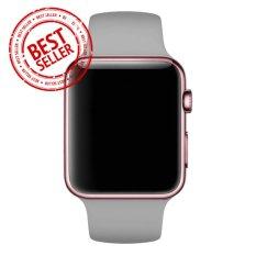 Jam Tangan LED - Jam Tangan Pria dan Wanita - Strap Karet - Abu abu Emas Pink - Apple_Grey_RoseGold