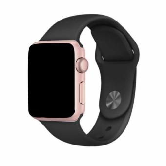 Jam Tangan LED Jam Tangan Pria dan Wanita Strap Karet Hitam Emas Pink .