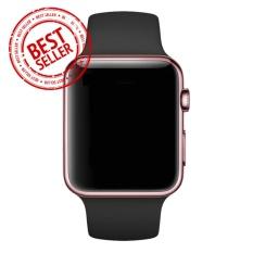 Jam Tangan LED - Jam Tangan Pria dan Wanita - Strap Karet - Hitam Emas Pink - Apple_Black_RoseGold
