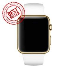 Jam Tangan LED - Jam Tangan Pria dan Wanita - Strap Karet - Putih Emas - Apple_White_Gold