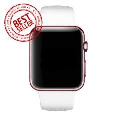 Jam Tangan LED - Jam Tangan Pria dan Wanita - Strap Karet - Putih Emas Pink - Apple_White_RoseGold