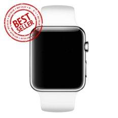Jam Tangan LED - Jam Tangan Pria dan Wanita - Strap Karet - Putih Silver -
