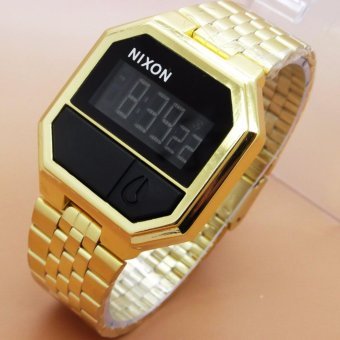 Jam Tangan Nixon Rerun Gold
