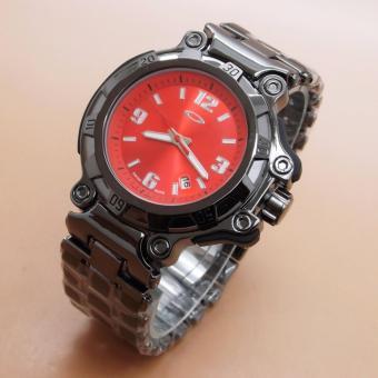 jam tangan Oakley Crankcase (Black Red)