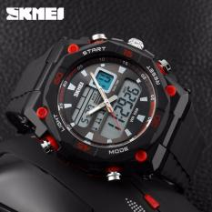 Jam Tangan Pria SKMEI Dual Time Casio Men Sport LED Original AD1092