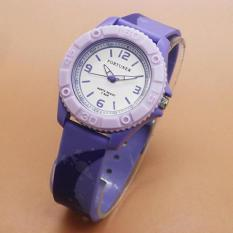 Jam Tangan Sporty Wanita Fortuner FR876BS Analog Mode Full Rubber Original