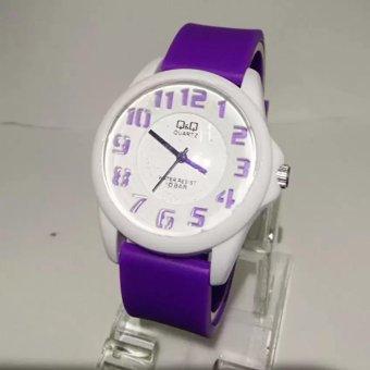 Jam Tangan Wanita Fashion Dan Trendy QQ-0118-S.A.S Genuine Rubber Strap ( Best