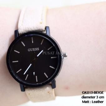 Harga jam tangan wanita guess fashion tali kulit import grosir murah ... 1cbff720b3