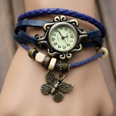 Jam Tangan Wanita Korean Women Fashion Leaves Analog Watch