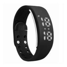 Jam W2 Gelang LED Sport Multifungsi Pedometer Kalori Meter - Black