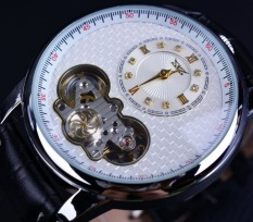 Jaragar Classic Dual Movement Design Automatic Quartz Watches Wristwatch Erkek Kol Saati Men Business Watch - Intl