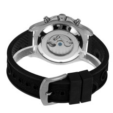 JARAGAR Luxury Tourbillon Automatic Watches For Men Black Rubber Strap Mens Sport Wrist Watch