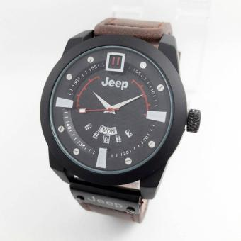 Jeep - JP 0911 - Jam tangan Pria - Design Casual - Exclusive Edition - Leather strap