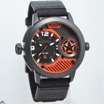 Jeep JPW62702 Dual Time Calendar (Black Orange)