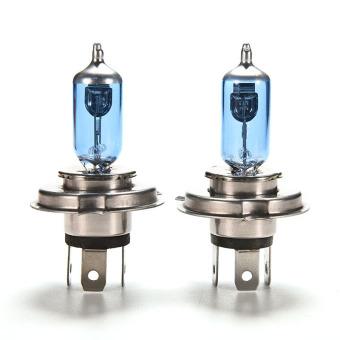Buytra 2pce 12 V 60/55 watt halogen lampu pijar cahaya lampu mobil H4 HID