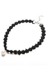 Jetting Buy Black Choker Necklace Flat Velvet Cord Charm White