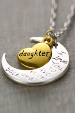 """Jetting Buy Necklace Charm Pendant """"I LOVE YOU """" Daughter"""