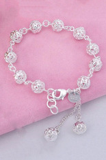 Jetting Buy Womens Hollow Ball Bracelet Silver Plated Silver