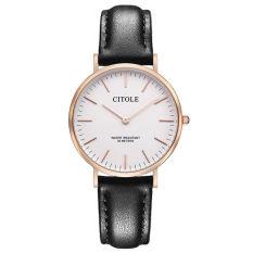 Jiage Bontek Electronic CITOLE Watch Leisure Men's Watch Belt Bijou Minimalist Fashion Men's Watches Ladies Quartz Watch Watch Lovers Table 1001 Female Black