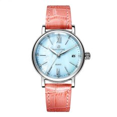 jinma Polaroid long watch Girls simple fashion genuine waterproof quartz sapphire steel strap watch (Pink) - intl