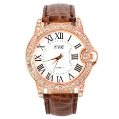 GE Hot Fashion Practical 6 Colors Adjustable Synthetic Leather Strap Women Watches (Coffee)