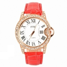 GE Hot Fashion Practical 6 Colors Adjustable Synthetic Leather Strap Women Watches (Red) (Intl)