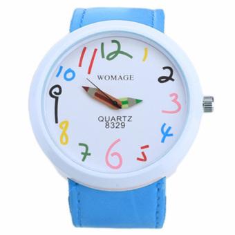 Jo.In Hot Fashion Women's Round Shape Waterproof Candy Color Wrist Watch (Blue) - Intl
