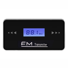 GE LCD 3.5mm In-car FM Transmitter (Black + Silver)