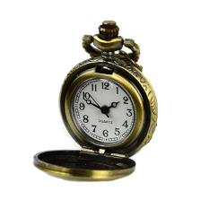 GE Retro Steampunk Quartz Necklace Pendant Chain Clock Pocket Watch Eiffel Tower Hollow (Multicolor)