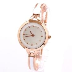 GE Women's Rose Gold White Thin Band Dress Watches Bracelet Rhinestone Wrist Watch (Gold)