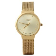 Julius JA - 426 Female Quartz Watch Ultrathin Stainless Steel Mesh Band GOLDEN (Intl)
